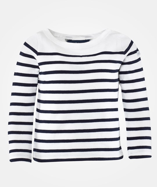 Ralph Lauren Lsl Stripe Top Patch White Multi White