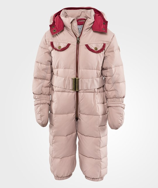 Livly Puffer Overall Baby Pink/Wine Red Pink