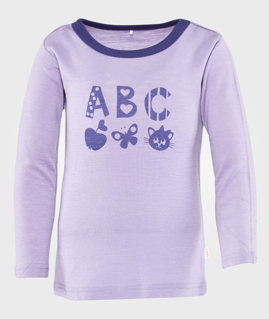 Name it Willi Wool Mini Ls Top Au Bougainvillea Purple