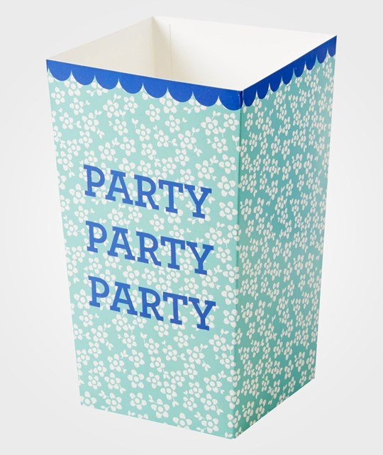 Rice 6 Party Popcorn Paper Buckets Green