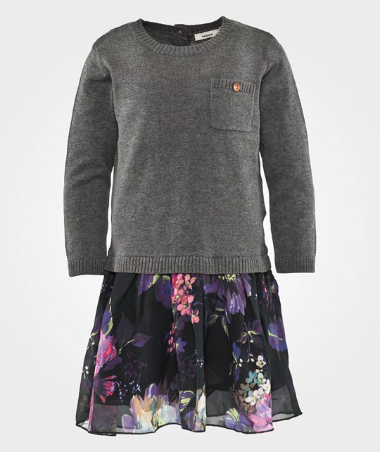 Mexx Mini Girls Платье Flatknit Limo Grey Heather Black