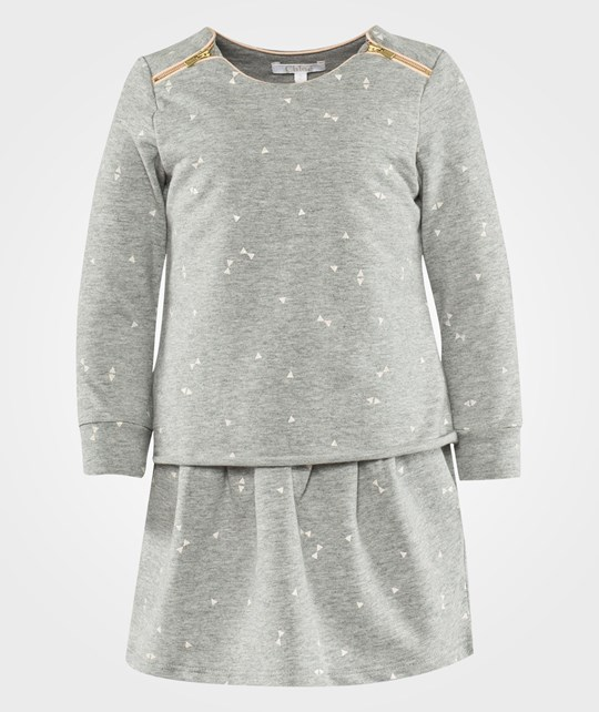 Chloé Long Sleeved Dress Light Chine Grey Sort