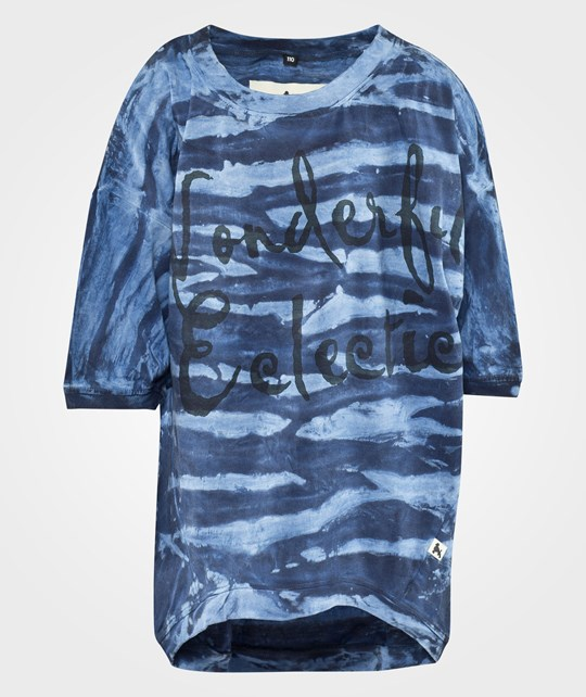 Shampoodle Eclectic Oversized Tee Blue Blue