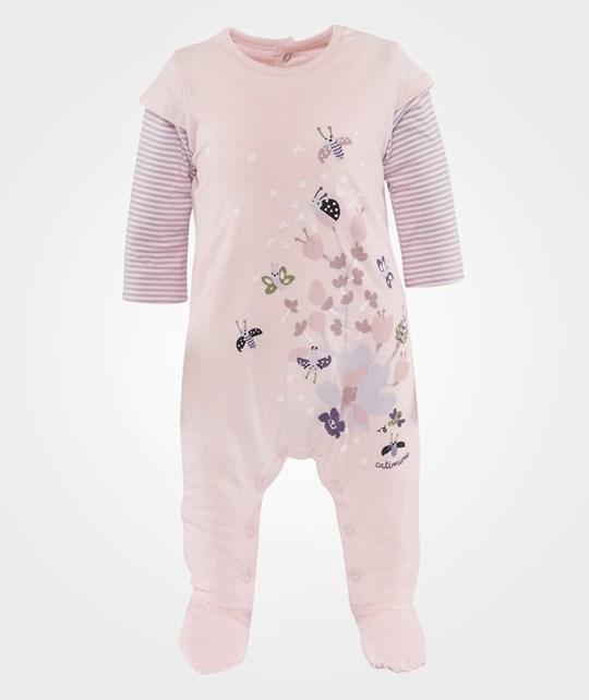 Catimini Lined Jersey Pyjamas Rose Pink