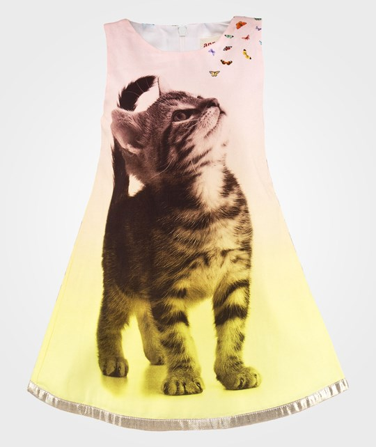 Anne Kurris Paper Dress Print Cat Yellow Yellow