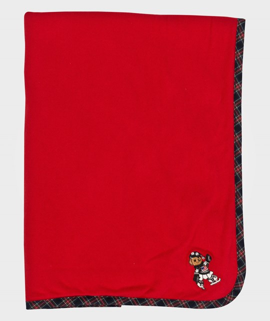 Ralph Lauren Bear Blanket Rl2000 Red Red