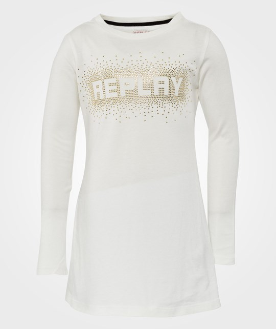 Replay Dress Off White White