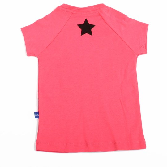 Molo T-skjorte Rina Girly Pink with Black Star Pink
