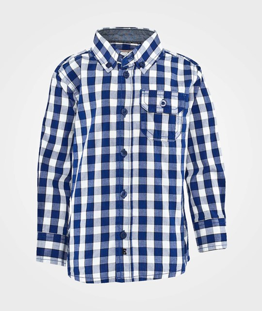 Esprit Check Shirt Delft Blue