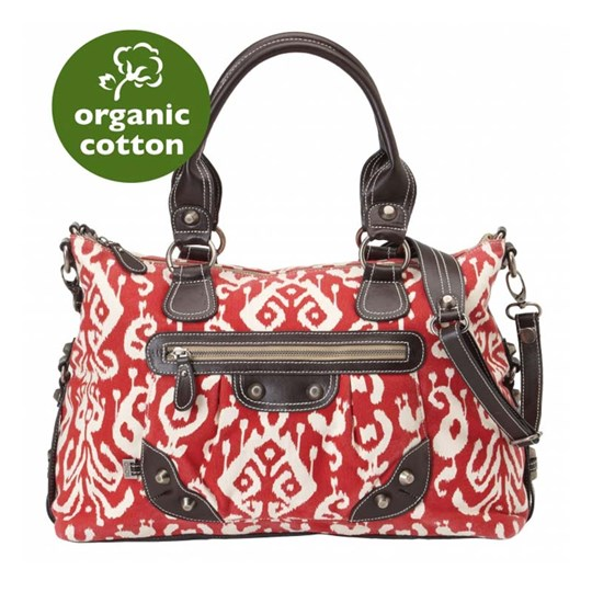 OiOi Tote Ikat Tapestry Red Red
