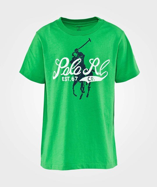Ralph Lauren Ssl  Graphic Tee  Print Champion Green Green