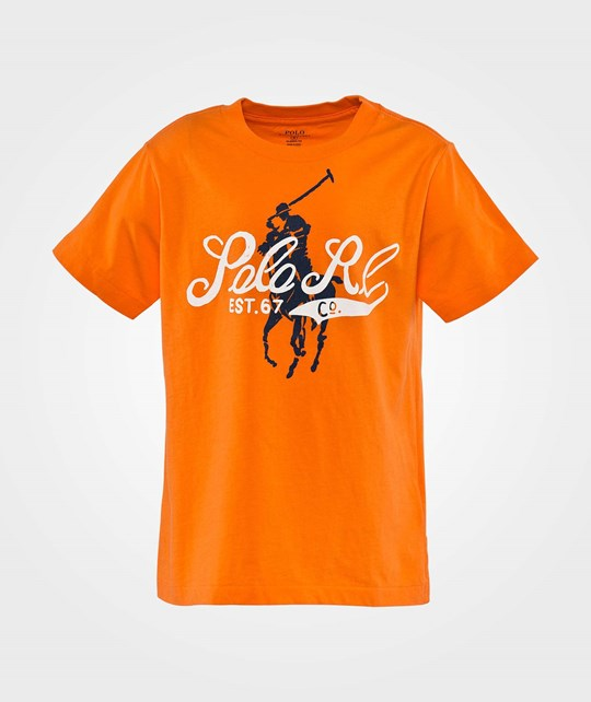 Ralph Lauren Ssl  Graphic Tee  Print Resort Orange Orange
