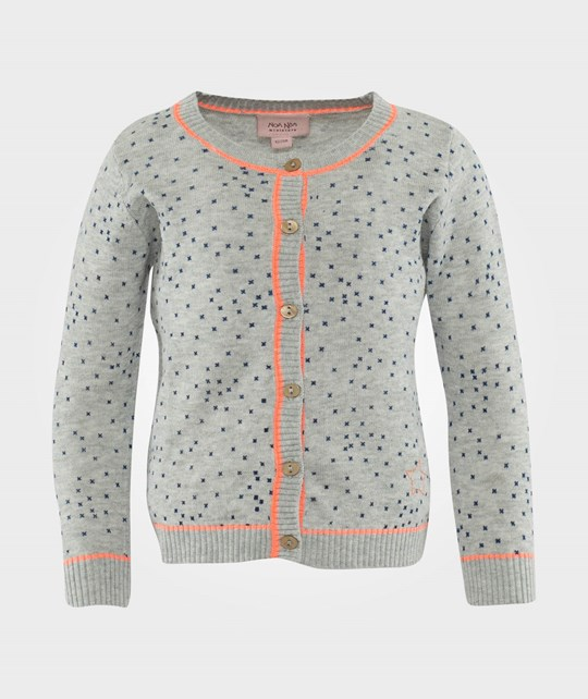 Noa Noa Miniature Cardigan,Long Sleeve Grey Melange Grey