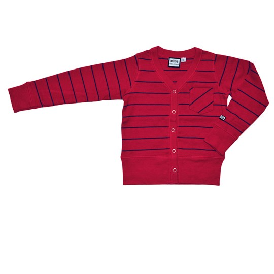 ebbe Kids Cardigan Erling Red/Navy Red