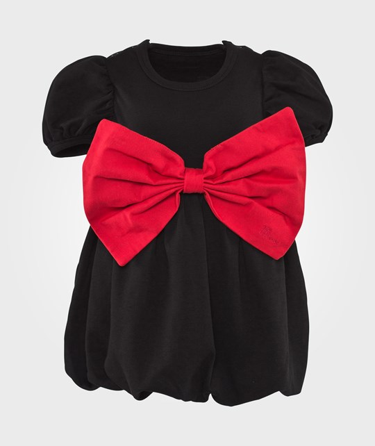 The Tiny Universe Black Switch Dress X-mas Huge Red Ribbon Black
