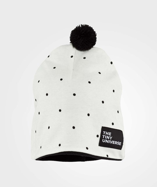 The Tiny Universe The Tiny Hat Off-White with small black dots