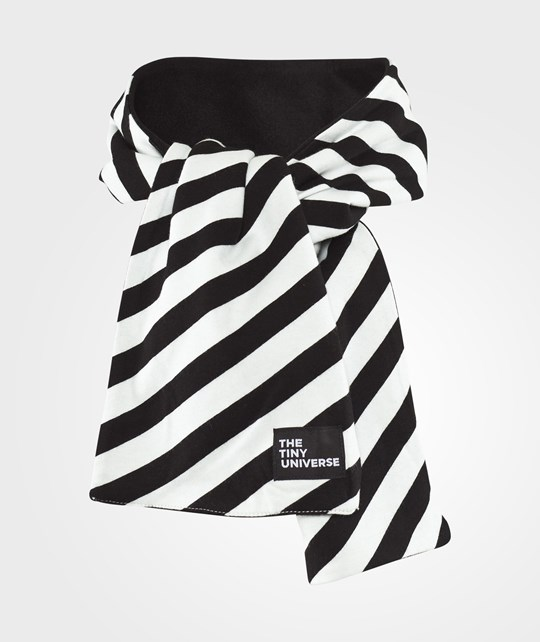 The Tiny Universe The Tiny Scarf Off-White and black stripes