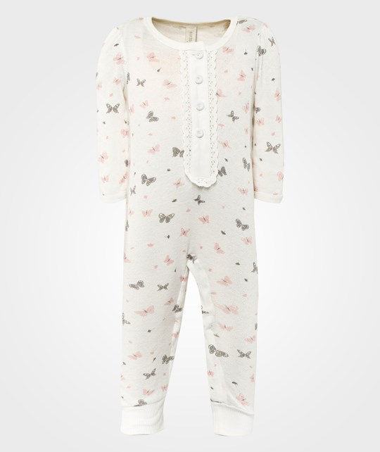Cotton & Button C&B Long Body Butterfly White