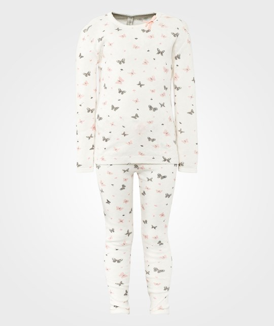 Cotton & Button C&B Long PJ Butterfly White