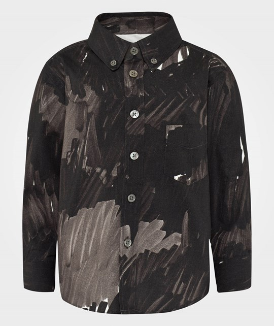 Acne Studios Mini I Wood Pri Camo Black Marker Black
