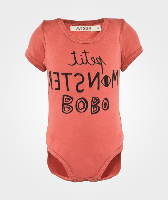 Bobo Choses Baby Body SS Petit Monster Red