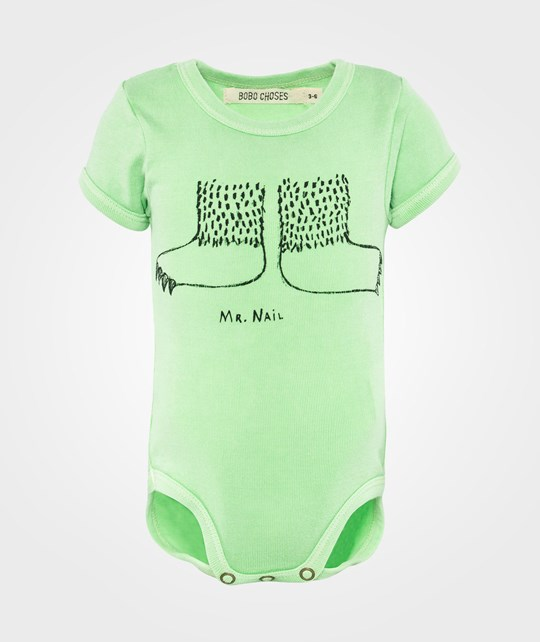 Bobo Choses Baby Body SS Mr Nail Green