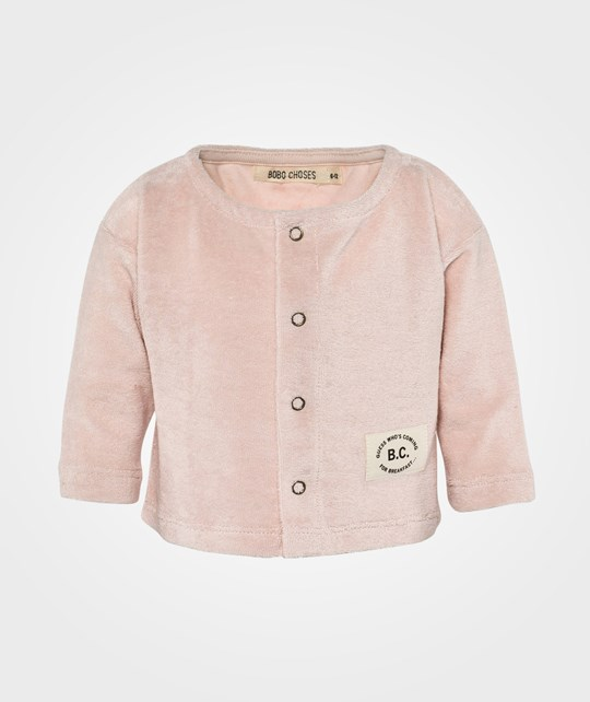 Bobo Choses Baby Jacket Snaps Shy Pink