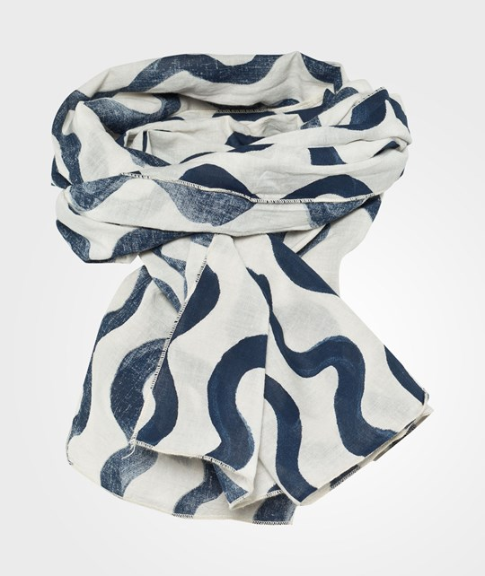 Bobo Choses Voile Scarf Waves AO Blue Beige