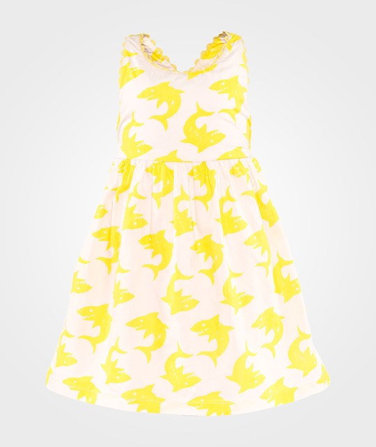 Stella McCartney Kids Dahlia Dress Aop Big Yellow Shark Aop Big Yellow Shark