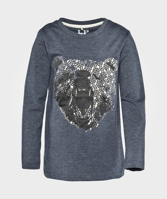Little Pieces LS Tee Bear Parisian Night