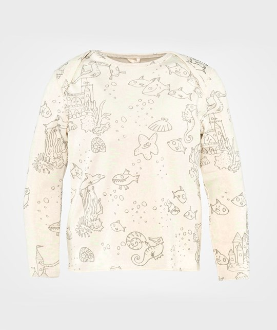 Stella McCartney Kids Buster T Shirt  Sea Scene Cream