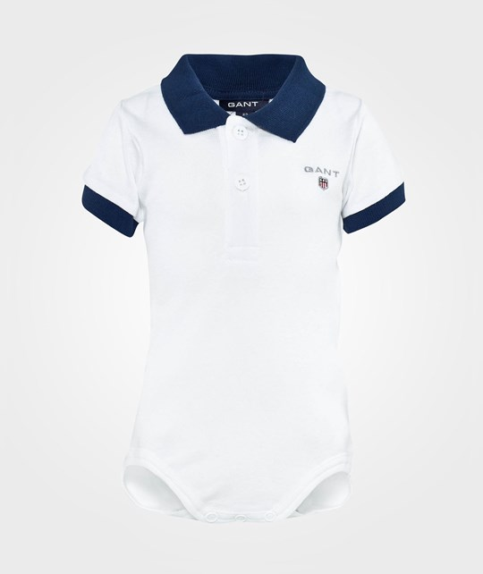 Gant C.W. Boy Solid Ss Body With Collar White