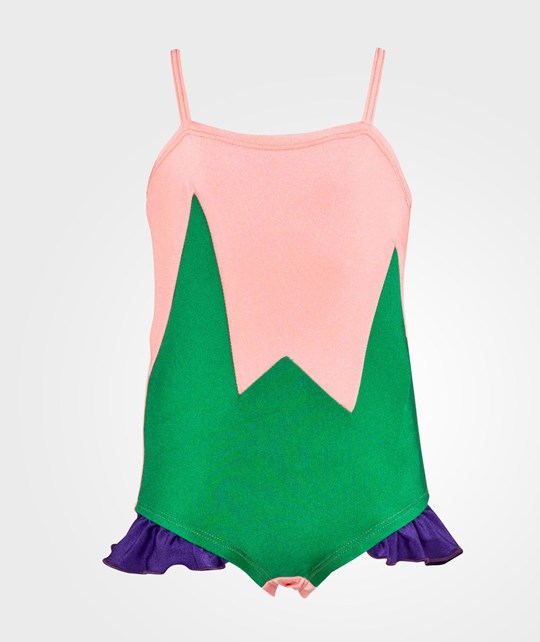 Wauw Capow Fiona Fame Swimsuit  Pink, Green & Purple
