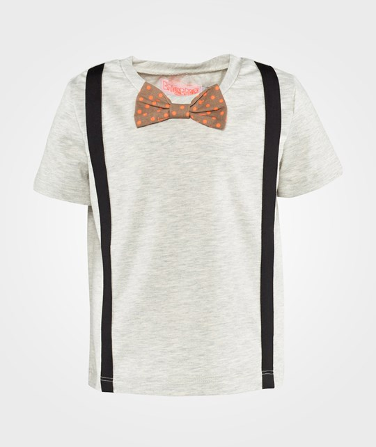 Wauw Capow Louis T-shirt  Light Grey Melange