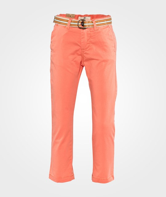 Scotch Shrunk Basic Garment Dyed Chino Pants + Belt Tangerine