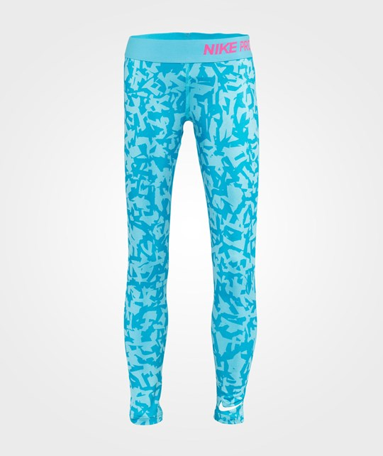 NIKE Nike Pro Aop Tights Youth Blue Lagoon/Pink Pow
