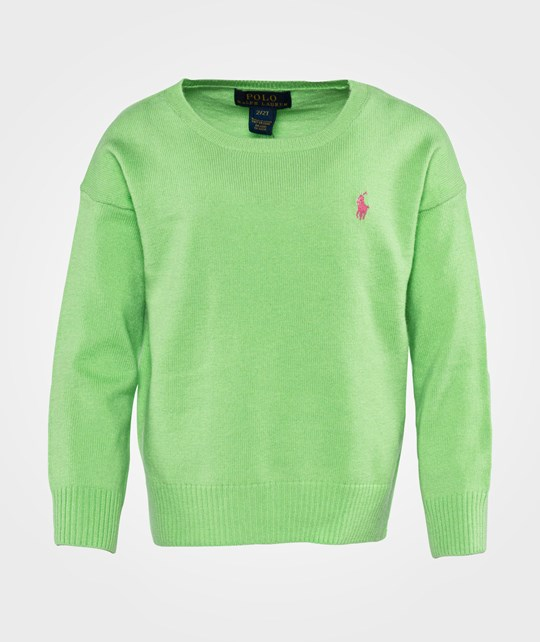 Ralph Lauren Lsl Fine Gauge Pp New Lime