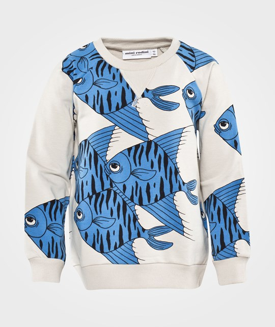 Mini Rodini Fishes Aop Sweatshirt Blue