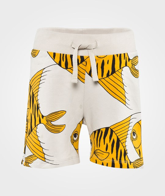 Mini Rodini Fishes Aop Sweatshorts Yellow