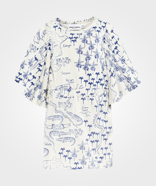 Mini Rodini Croco Map Aop Dress White