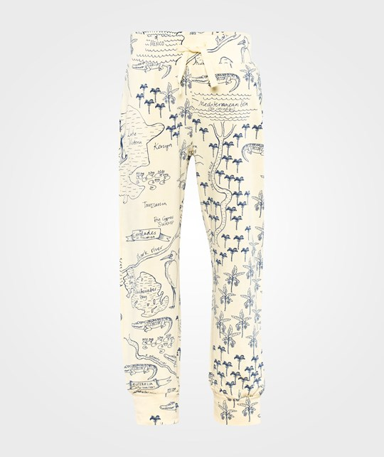 Mini Rodini Croco Map Aop Trousers Beige