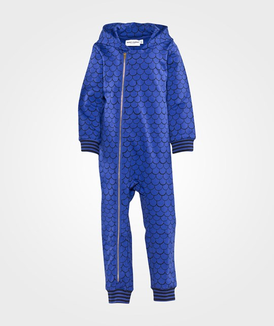 Mini Rodini Fish Scale Aop Onesie Blue
