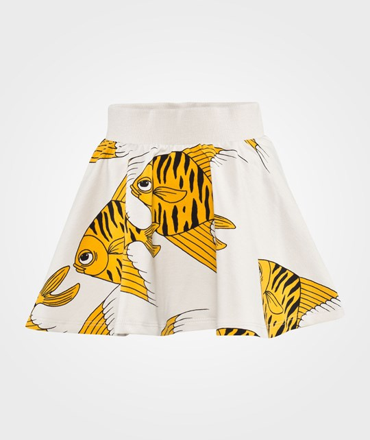 Mini Rodini Fishes Aop Sweatskirt Yellow