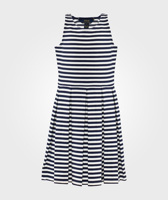 Ralph Lauren Sls Pleated Dres Newport Navy Multi