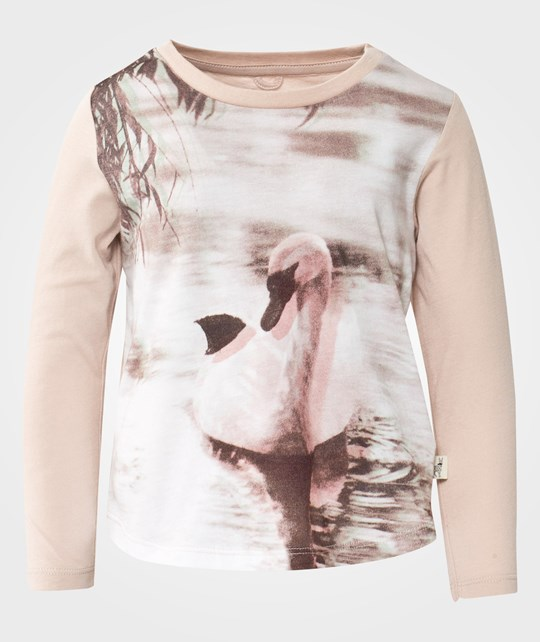 Stella McCartney Kids Barley Swan Pr Tee Marshmallow White