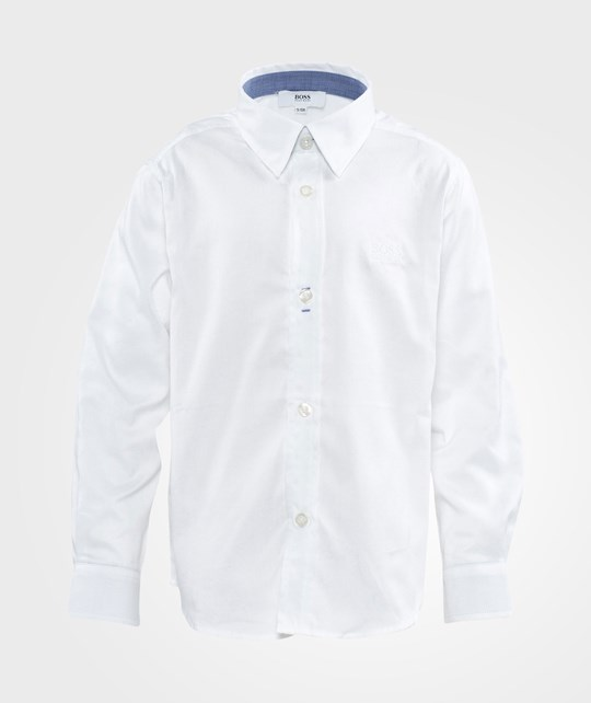 BOSS Long Sleeved Shirt White White