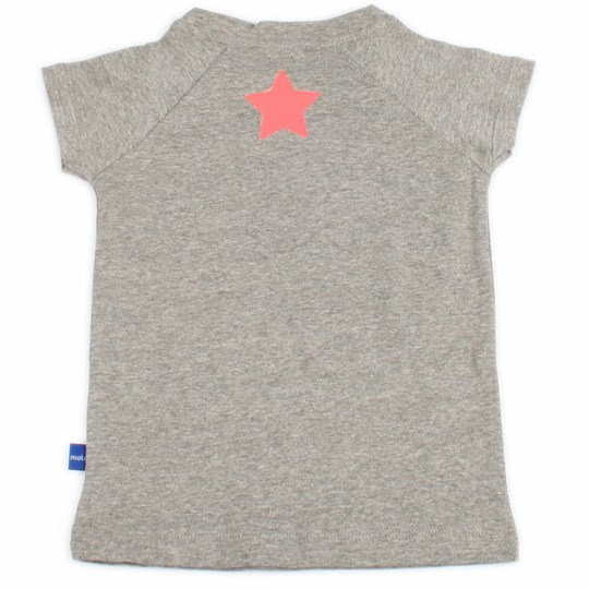 Molo T-shirt Rina Grey with Pink St Black