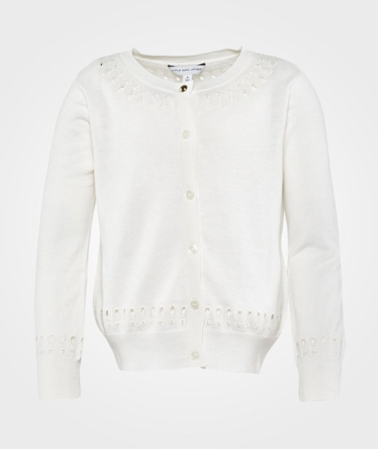 Little Marc Jacobs Knitted Cardigan White