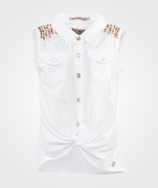 Scotch R'belle Sleeveless Shirt With Embellished Details White
