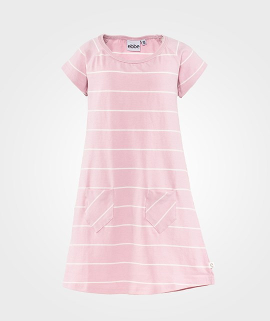 ebbe Kids Stina A-Line Dress S/S  Pink Nectar/ Offwhite